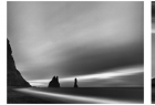 """Black beach"", ""Hvitserkur"", ""Sunrise and sunset over Krafla geotermal power plant"", ""Godafoss"" - fot. Maciej Wójcik - Grand Prix, Nagroda za najlepsze fotografie w kategorii ""Natura"" wśród lekarzy."